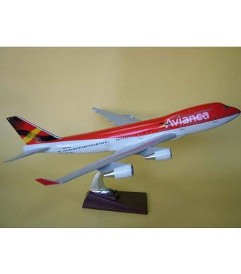 Diecast Metal Resin Plane Model - Avianca