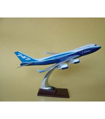 Diecast Metal Resin Plane Model - Boeing 747