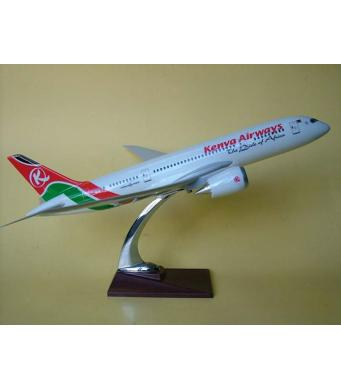 Diecast Metal Resin Plane Model - Kenya Airways