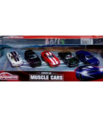 Majorette American Muscle Cars Set - 5 cars