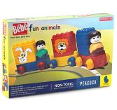 Peacock Bebe Building Blocks Fun Animals