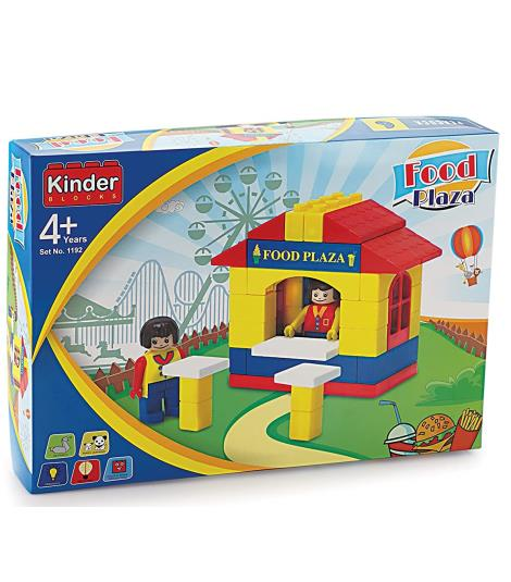 Peacock Kinder Building Blocks Food Plaza