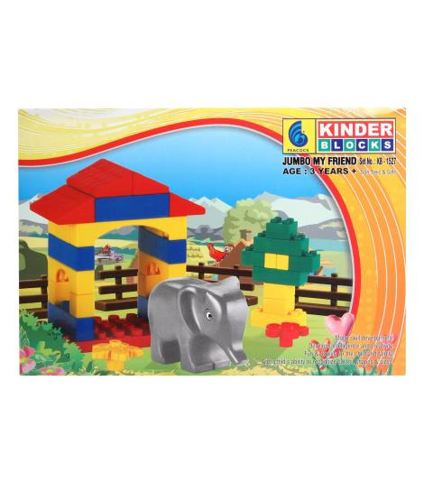 Peacock Kinder Building Blocks Jumbo My Friend