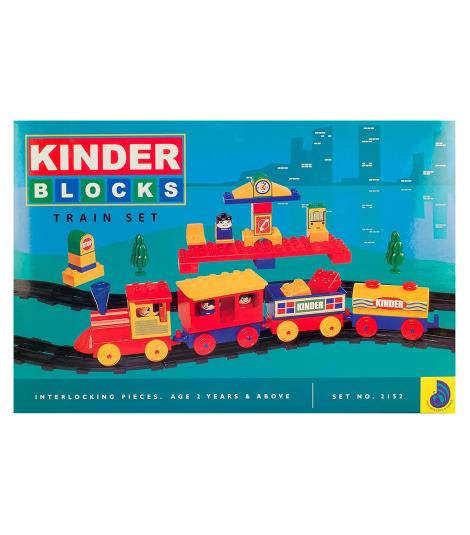 Peacock Kinder Building Blocks Train Set
