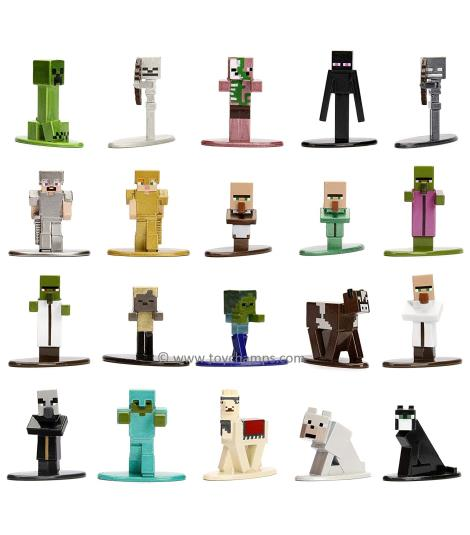 Jada Nano Metalfigs Minecraft Wave-1 Figurines 1:65 Scale