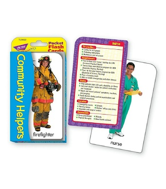 Pocket flash Cards - Community Helpers