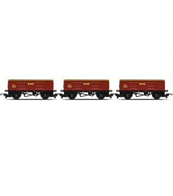Hornby R6367 Rail Road Triple Coal Wagon Pack