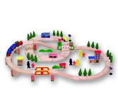 Wooden Train Set - 115 pieces
