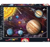Educa Jigsaw Puzzle - Solar System Neon Series - 1000 Pieces