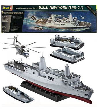 Revell Amphibious Transport Dock U.S.S. New York (LPD-21)