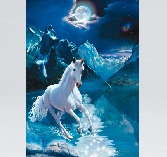 Clementoni Jigsaw Puzzle - Florescent Collection - The White Stallion - 1000 Pieces